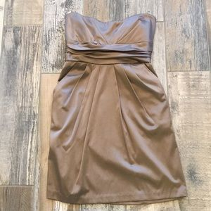Mystic silk pocket dress in cocoa - Large